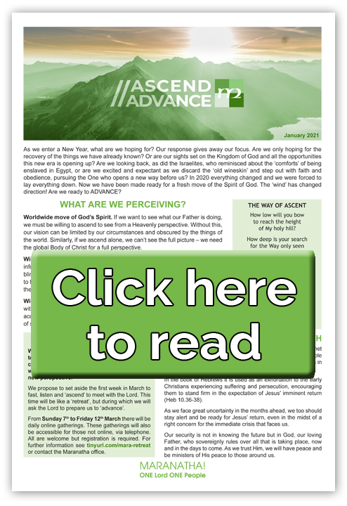 Maranatha Newsletter - click here to read